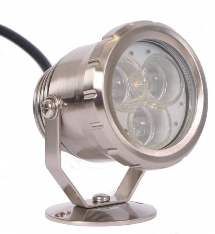 LED Spot 3W metall 3  power varmvita lysdioder