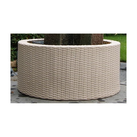 Wicker Rotting dekorkant 90L Vit